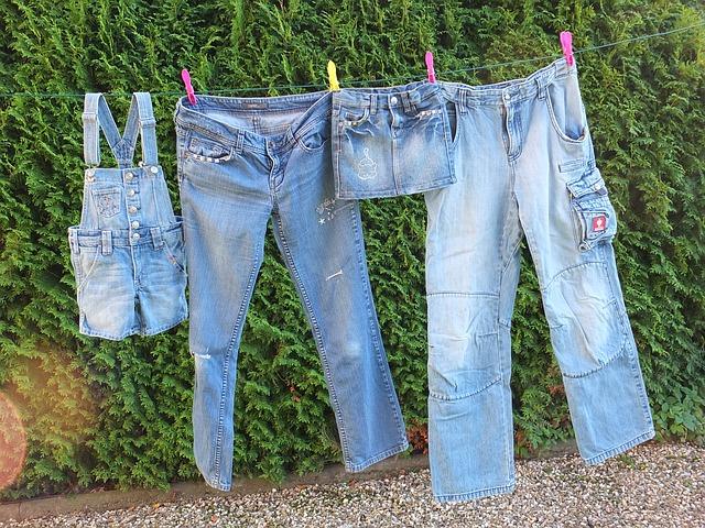 jeans hosen shorts rock aufhängen