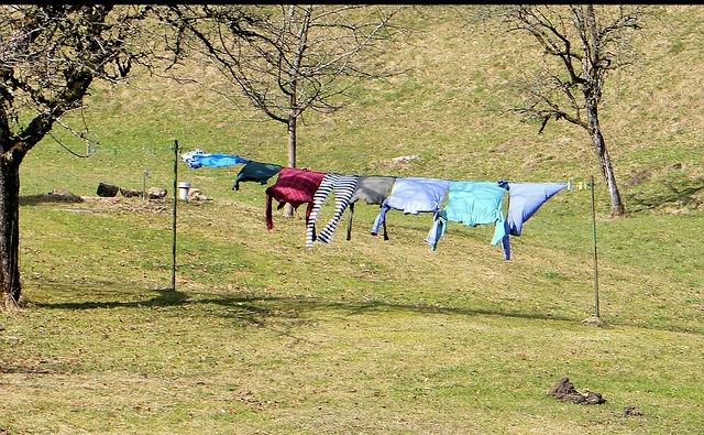 wäscheständer befestigung garten wind