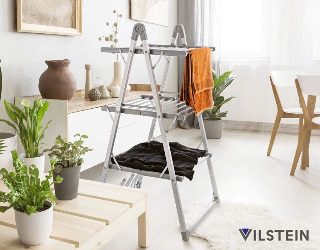Elektrischer Schuhtrockner VILSTEIN Wäscheständer Turm