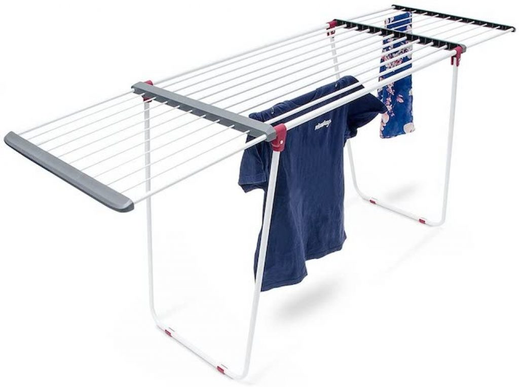 relaxdays ausziehbarer wäscheständer