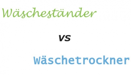 Im Vergleich: Wäscheständer vs Wäschetrockner