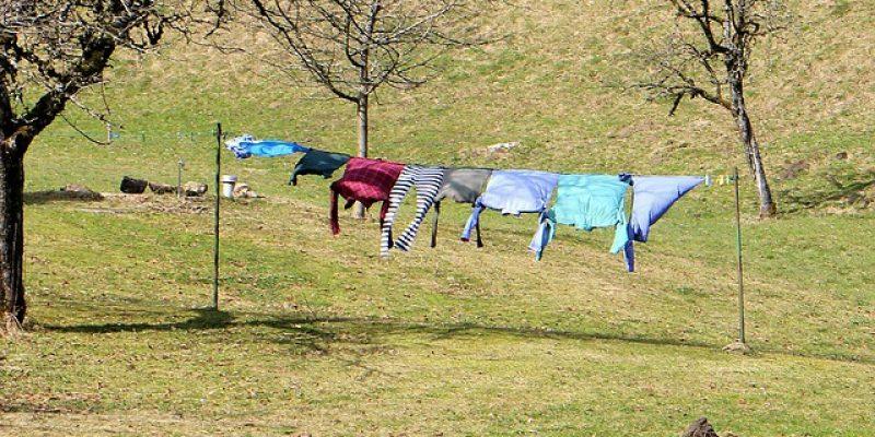 Was tun wenn der Wäscheständer umfällt😨 Heringe!